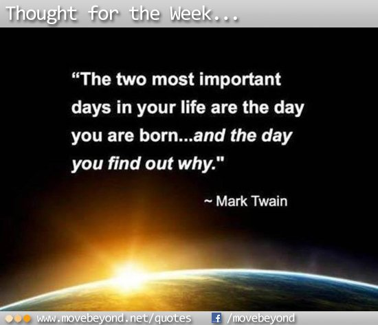 Mark Twain - Most important days