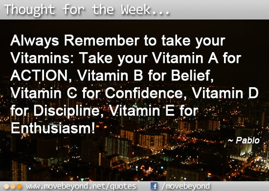 Take your Vitamins