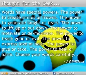Thought for the Week: 25th March 2013