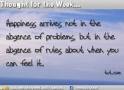 Thought for the Week: 14th October 2013
